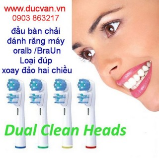 Tooth brush Heads Replacement Braun Oral B Dual Clean