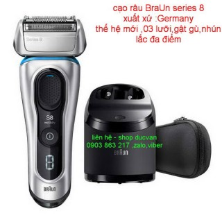Máy cạo râu BraUn series8 8370cc MADE IN GERMANY