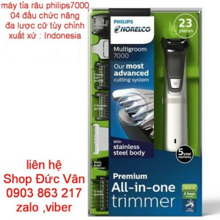 Máy tỉa râu Philips multigroom 7750  made in Indonesia