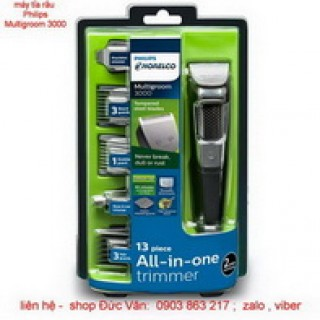Máy tỉa râu Philips multigroom MG3750 made in Indonesia